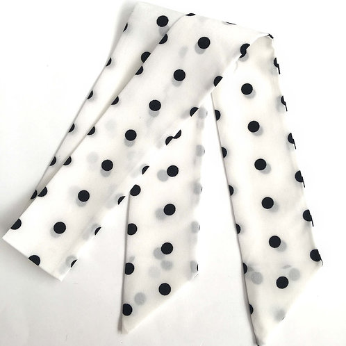 SISTER BOWS BLACK SPOTS HAIR SCARF