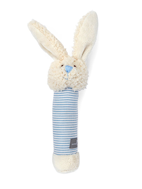 BELLA THE BUNNY BABY RATTLE - BLUE