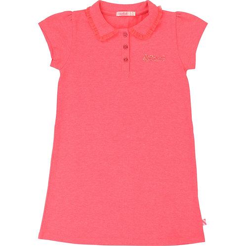 BILLIEBLUSH GIRLS NEON PINK POLO DRESS
