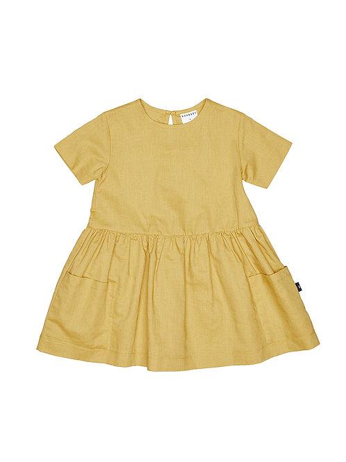 HUX MUSTARD DARCY DRESS