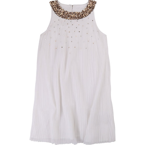 BILLIEBLUSH GIRLS WHITE  PLEATED DRESS