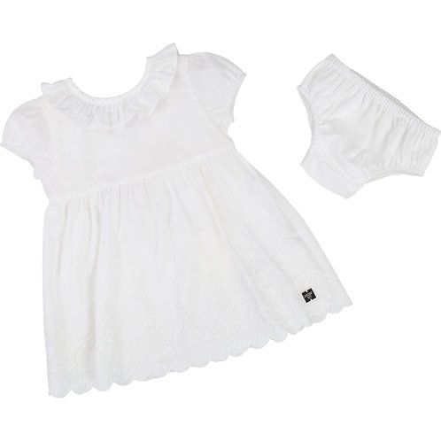 CARREMENT BEAU WHITE DRESS WITH BLOOMERS