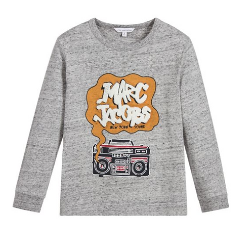LMJ BOYS GREY COTTON RADIO TOP