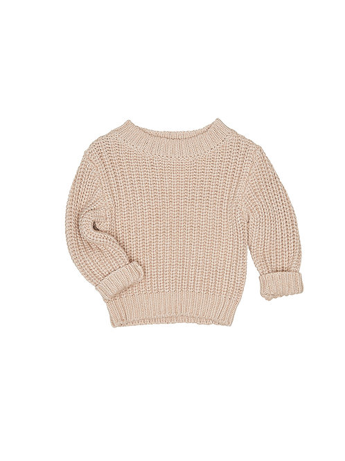 HUX BISCUIT CHUNKY KNIT JUMPER