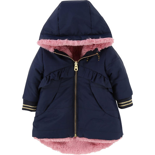 LMJ GIRLS REVERSIBLE PUFFER JACKET