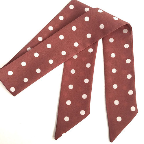SISTER BOWS PINK LARGE SPOTS HAIR SCARF