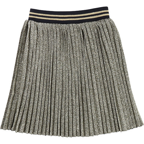 LMJ GIRLS GOLD PLEATED SKIRT