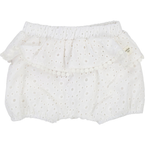 CARREMENT BEAU GIRLS WHITE COTTON BLOOMERS