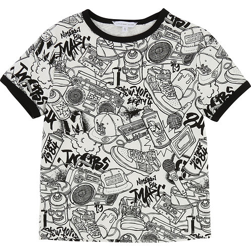LMJ BOYS WHITE GRAFFITI TEE