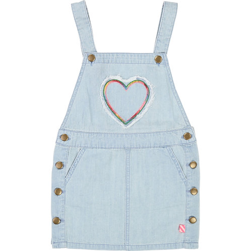 BILLIEBLUSH BLUE DENIM DUNGAREE DRESS