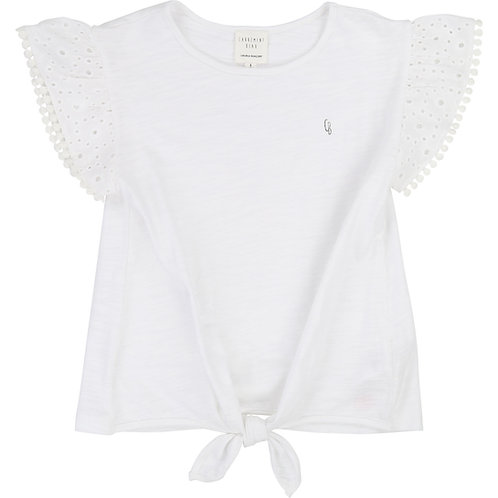 CARREMENT BEAU GIRLS WHITE TIE TEE