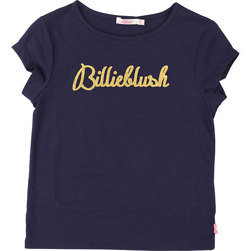 BILLIEBLUSH GIRLS NAVY LOGO TEE
