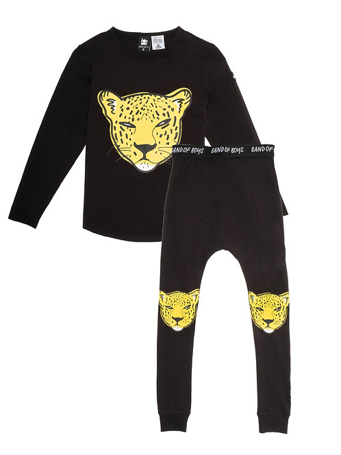BAND OF BOYS LEOPARD FACE WINTER PJ'S