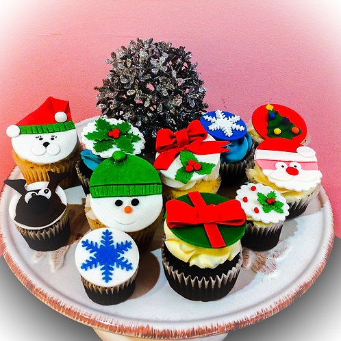 Christmas collection regular size cupcakes