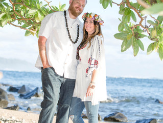 Aliomanu Beach, Kauai Family Portrait Sunrise Session