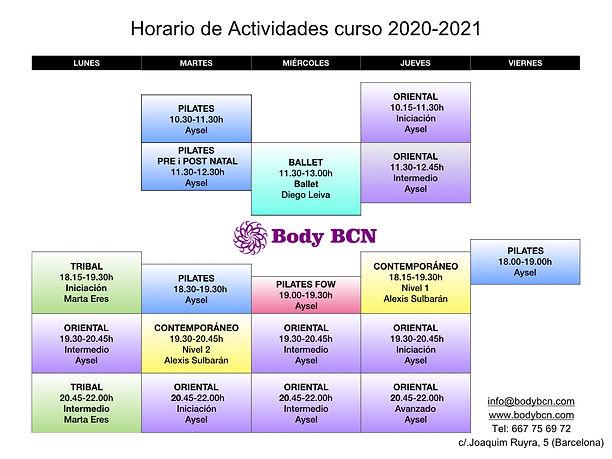 Horario de Actividades curso 2020-2021.0