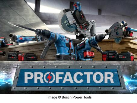New Bosch PROFACTOR Cordless Tools