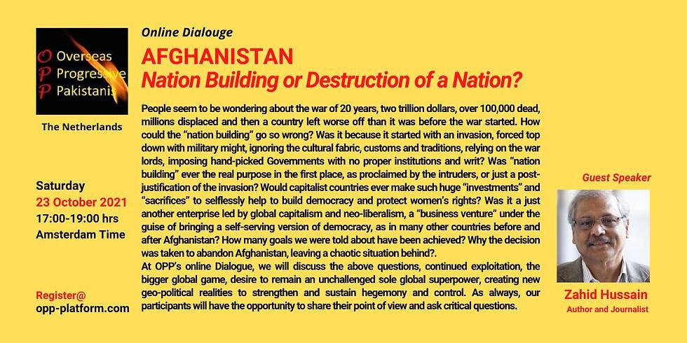 AFGHANISTAN Nation Building or Destruction of a Nation
