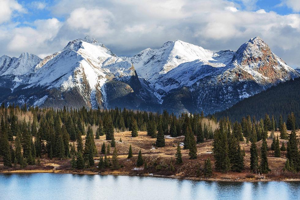Mountain Landscape in Colorado Rocky Mou