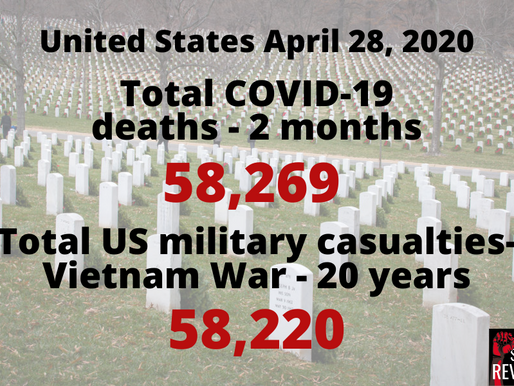 Total US COVID-19 cases pass 1,000,000 on same day deaths eclipse Vietnam casualties