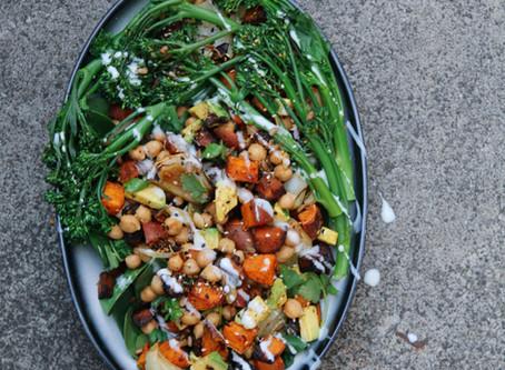 Broccoli, Sweet Potato and Chickpea Salad