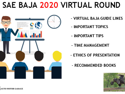 IMPORTANT POINTS FOR  VIRTUAL ROUND OF SAE BAJA