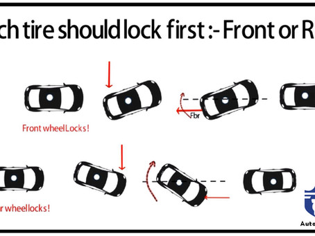 Which tire should lock first : Front or Rear ?