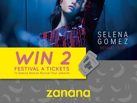 Mau tiket konser Selena Gomez Jakarta GRATIS dari Zanana Chips? Ini caranya!