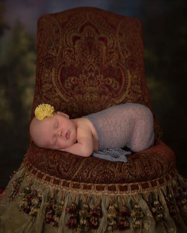 Newborn in chair