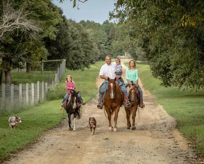 Farm Family with Horses