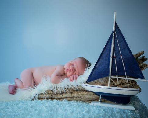 Jackson sailing away