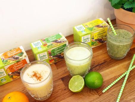 3 recettes de smoothies inspirées des thés Jardin BIO