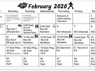 Bye Bye Birdie Feb Rehearsal Schedule