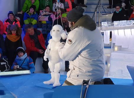 Carnevale 2020: i Pupi siciliani (di ghiaccio) sul Presena