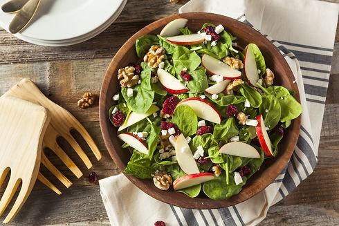 Homemade Autumn Apple Walnut Spinach Sal