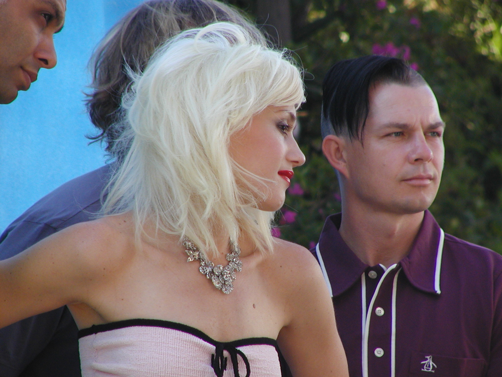 Gwen Stefani with her band No Doubt at Runyon.