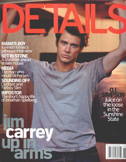 Jim Carrey cover shot in Runyon Den