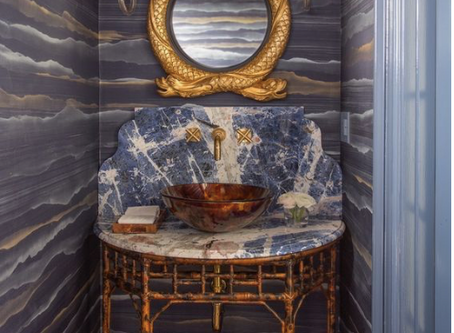 1 INFALLIBLE DESIGN ELEMENT TO AN ELEGANT POWDER ROOM