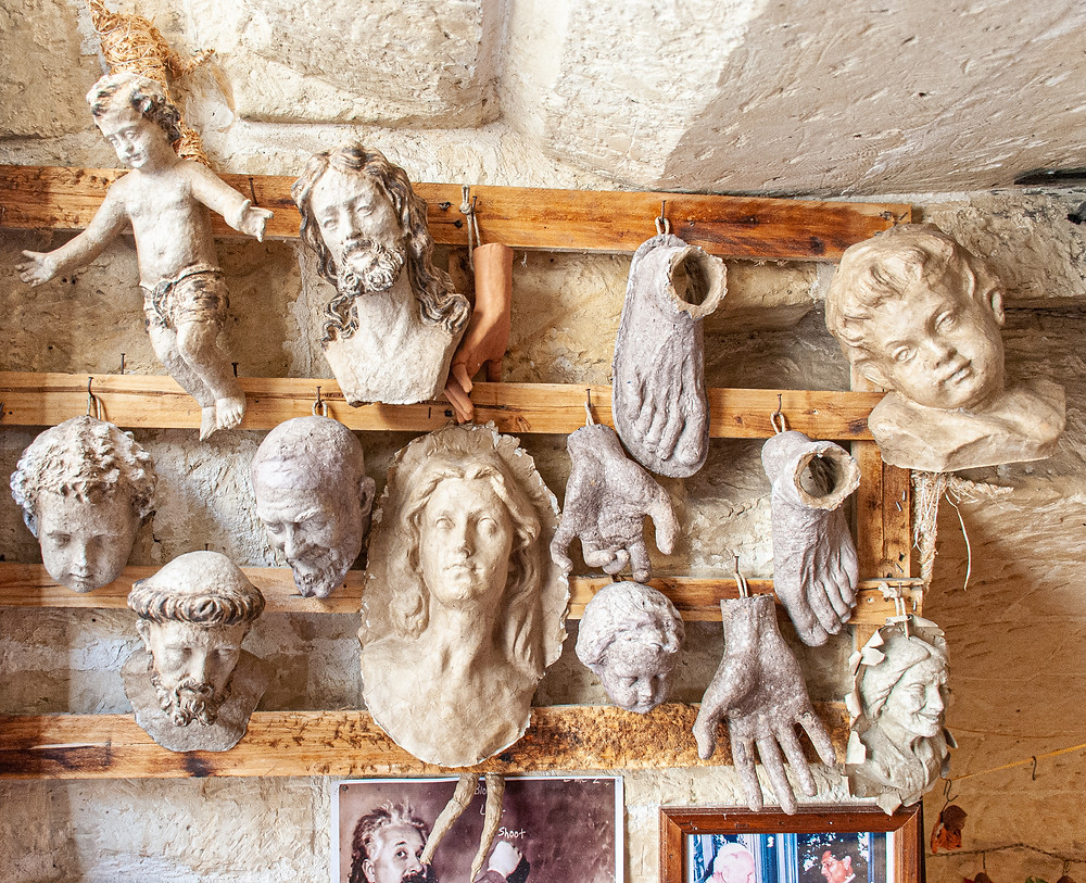 Cartapesta figurines, Claudio Riso, Lecce