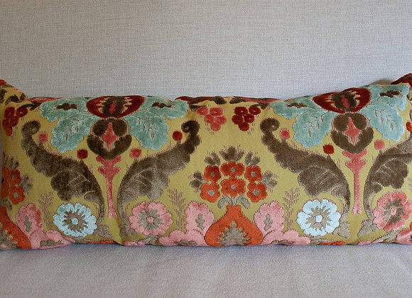 Cut-Velvet Flowers Pillow