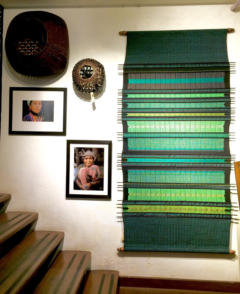 Sop Moei Arts in Chang Mai. Hand woven textiles, baskets and more.
