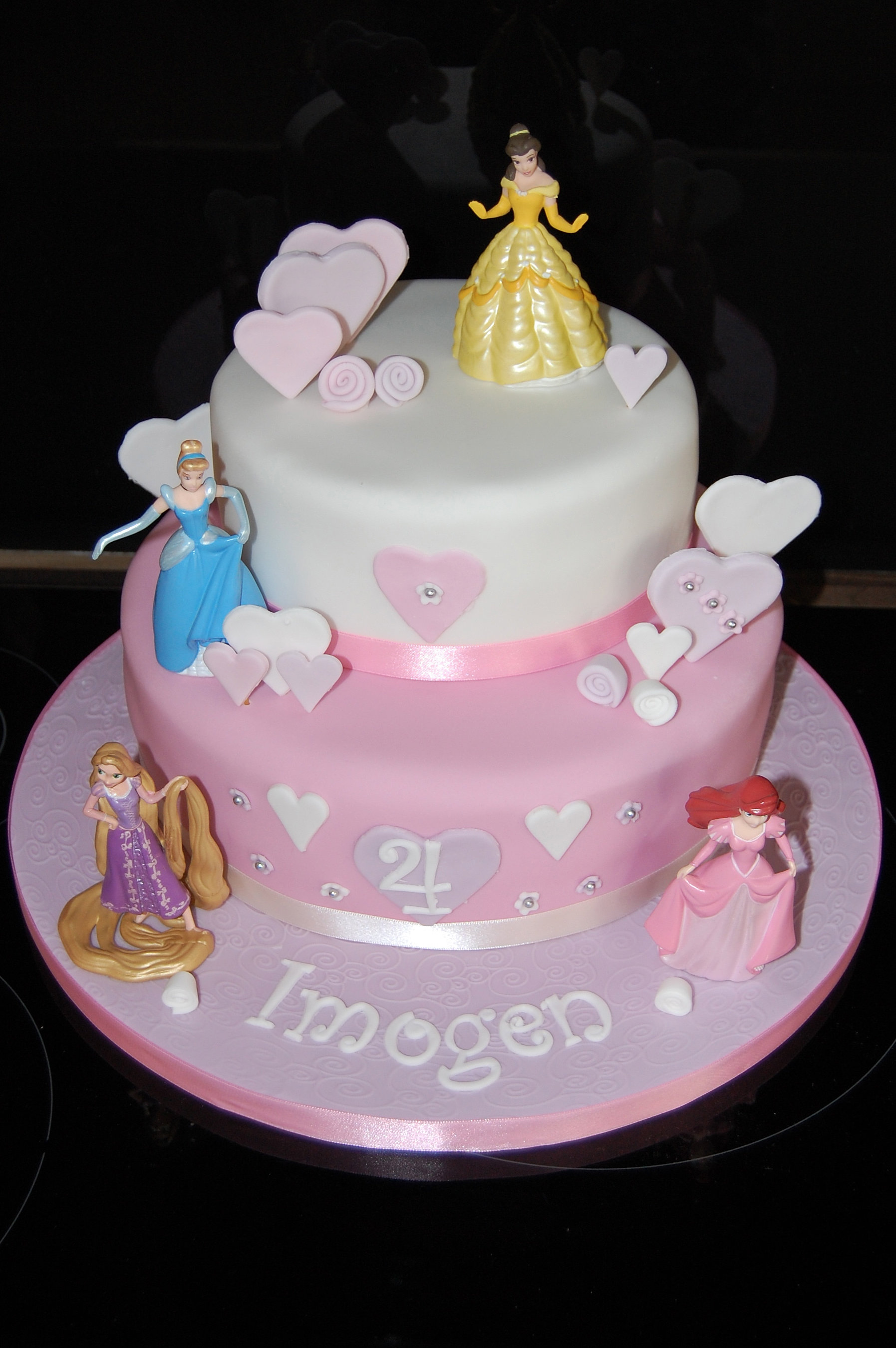 Two Tier Princess Birthday Cakes