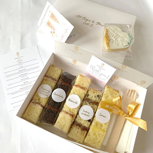 Wedding Cake Sample Box of 5 Flavours