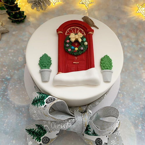 Traditional Christmas Door Luxury Fruit Cake