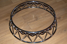 """12"""" silver wedding cake stand hire"""