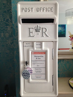 White wedding post box for hire