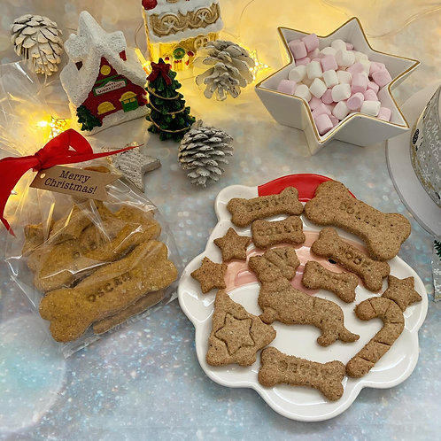 Festive Hand Baked Personalised Dog Biscuits
