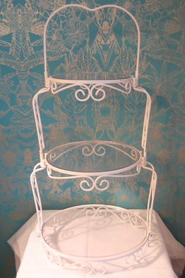 Wilton Graceful Tiers white 3 tier wedding cake stand for hire