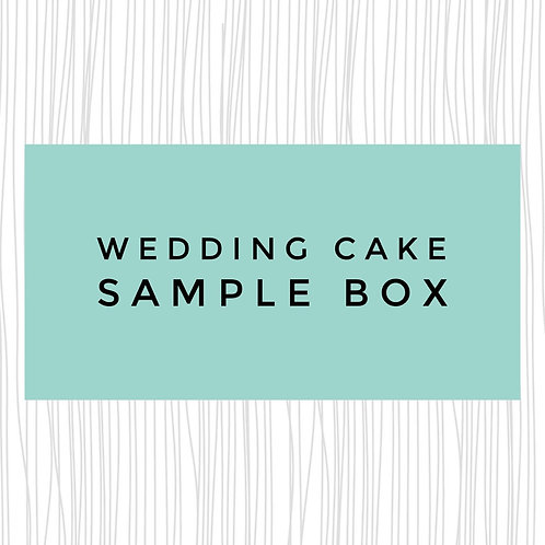 Wedding Cake Sample Box of 3 Flavours