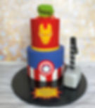 Marvel Super Hero Iron Man Captain America Hulk Birthday Cake